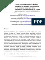 EDUCAÇÃO EM SAÚDE - UM PANORAMA DOS TRABALHOS APRESENTADOS NO ENCONTRO NACIONAL DE PESQUISA EM EDUCAÇÃO EM CIÊNCIAS –ENPEC (2013-2017