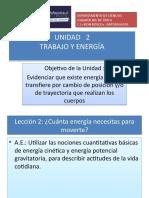 PPT 2 UNIDAD II TRABAJO Y ENERGIA