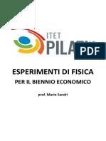 Esperimenti di Fisica per il Biennio Economico