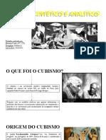 Cubismo Sintético e Analítico MARIANA COSTA