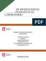 Normas de Bioseguridad Para El Laboratorio