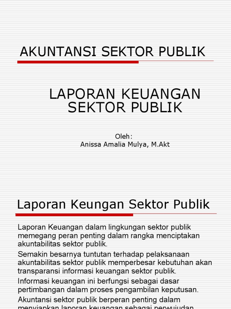 Contoh Laporan Keuangan Akuntansi Sektor Publik Kumpulan Contoh Laporan