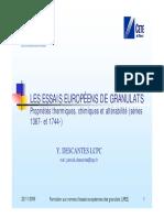 Essais Européens sur les Granulats_Series 1367 et 1744 (Y. DESCANTES LCPC)