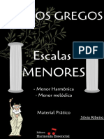 Modos das escalas menores - Material Prático - Silvio Ribeiro