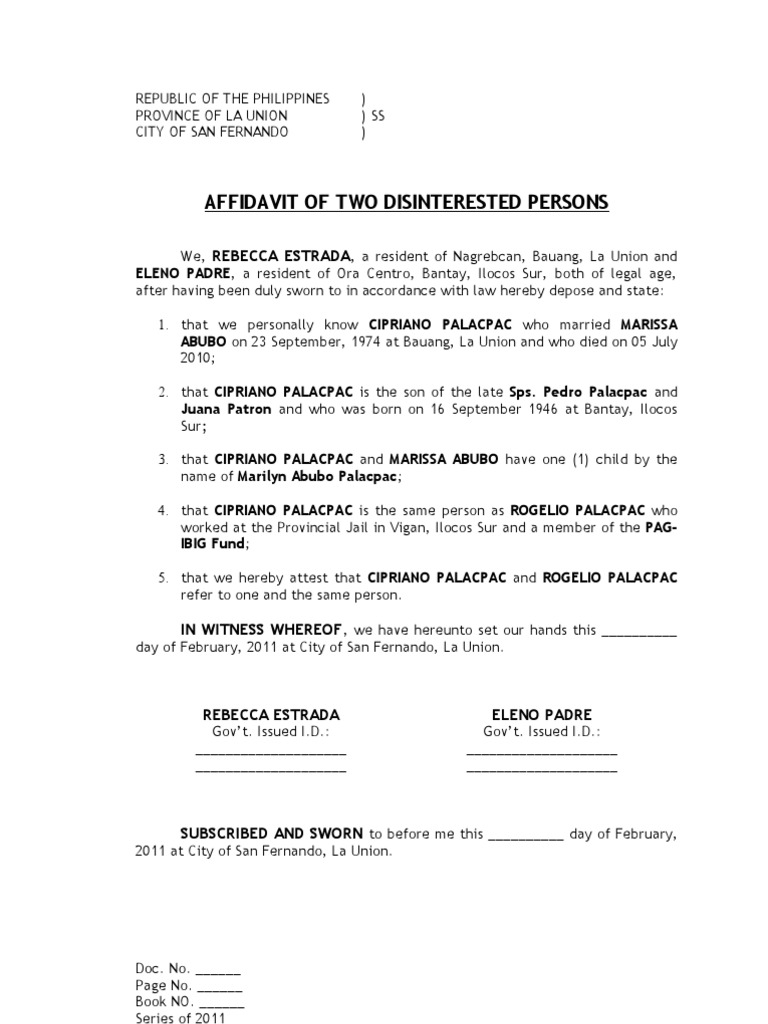 Affidavit Of Discrepancy Sources Legal Procedure