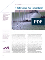 Smart Water Use on Your Farm-water