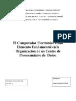EL COMPUTADOR ELECTRÓNICO procesamiento de datos