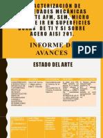 Caracterización de propiedades mecánicas mediante AFM, SEM
