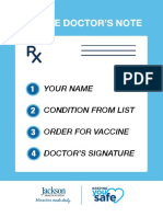 Jackson Health Vaccine Sample Doctor's Note