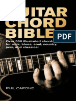 Guitar Chord Bible Over 500 Illustrated Chords for Rock Blue