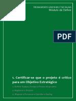 Apostila_DEFINIR 1. Certificar-se Que o Projeto é Crítico Para Um Objetivo Estratégico