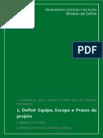 Apostila_DEFINIR 2. Definir Equipe, Escopo e Prazos Do Projeto