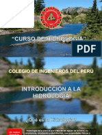 1. Introduccion a la Hidrologia