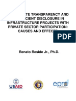 Inadequate Transparency and Insufficient Disclosure in Infrastructure Projects With Private Secto