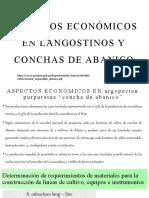 ASPECTOS ECONÓMICOS EN LANGOSTINOS Y CONCHAS DE ABANICO