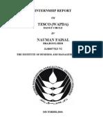 Internship Report on TESCO, WAPDA