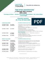 DIU Chirurgie Mini-invasive - programme mars 2020