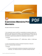 Exerccios Memria Principal Monteiro