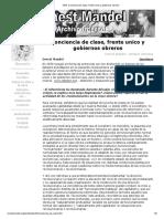 1979_ Conciencia de clase, frente unico y gobiernos obreros