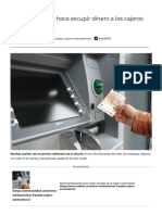 El malware que hace escupir dinero a los cajeros automáticos