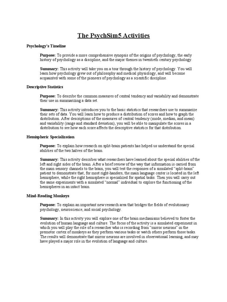 PsychSim5_Worksheets