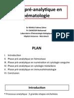Phase Pré-Analytique en Hématologie - RAHALI FZ