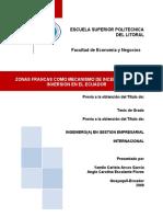 Tesis Zonas Francas Como Mecanismo de Incentivo Para La Inversion en El Ecuador