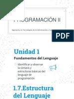 Unidad 1.-Programación II