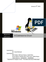 Windows Vs Linux - A Comparative Study