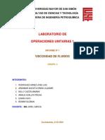 INFORME 1 VISCOSIDAD DE FLUIDOS