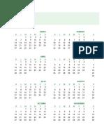 Calendario del 2019
