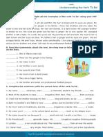 Understanding the Verb To Be Interactive Worksheet