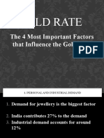 4 Factors Influencing the Gold Rate