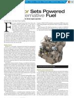 Alternate fuel DG set