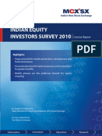 MCX Indian_Equity_Investors_Survey_2010