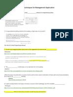 MBCQ721D-Quantitative Techniques for Management Application