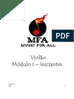 Violão Módulo I Iniciantes. Versão 1.0 MFA 1