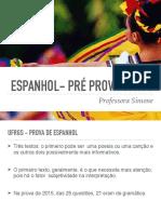 ESPANHOL - PRÉ PROVA (UFRGS)