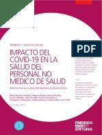 Impacto Del COVID-19 en La Salud Del Personal No Médico de Salud