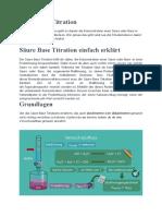 Säure Base Titration