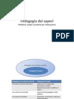 Pedagogia Dei Saperi _ Introduzione Al Corso