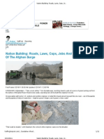 Huffington Post_Nation Building-Roads, Laws, Cops, Jobs, and the Challenges of the Afghan Surge