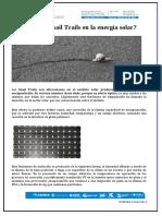 Snail Trails en la energía solar (TIPO GUSANO)