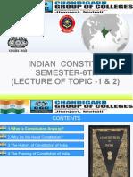 TOPIC-1 Constitution of india
