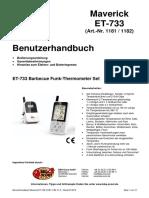 Maverick Grillthermometer RDI Check  ET-733_Benutzerhandbuch-1