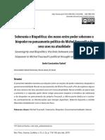 Soberania e Biopolítica_dos nexos entre poder soberano e biopoder em Foucault e seus usos na atualidade[Revista Aurora_2019]