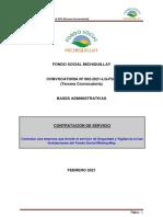 Convocatoria_Seguridad y Vigilancia FSM 2021 - Tercera Convocatot