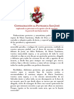 Consagración Al Patriarca San José