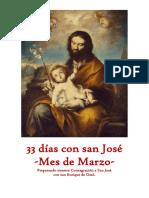 33 días con san José -Mes de Marzo- Preparando nuestra Consagración a San José  con san Enrique de Ossó.