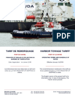 Boluda Le Havre - Tarif 2018